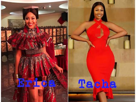 Between Tacha and Erica, who wears a red dress more beautifully?