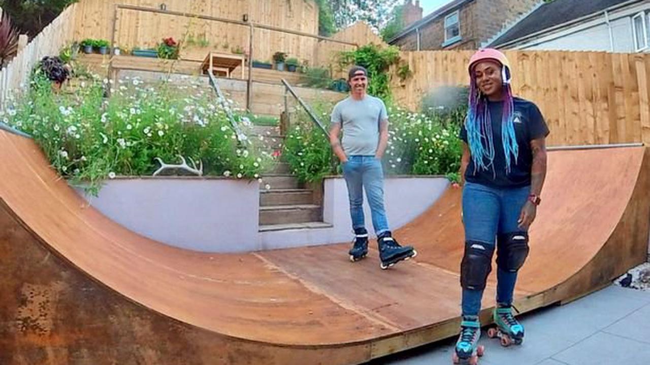 Couple's amazing transformation of their regular suburban backyard into 'paradise' garden