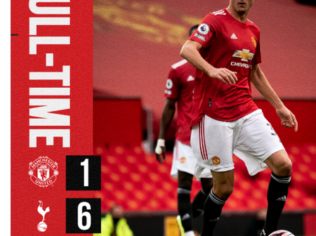 Manchester United suffer most of there heaviest defeat in October, see the team