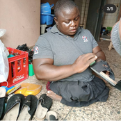 Meet Abraham Lucky, The 38 Year Old Disabled Man Who Manufactures Shoes For A Living (Photos)