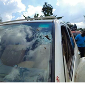 God Saved Bobi Wine's Life On Tuesday, See How His Car Was Severally Shot By The Police (Photos)