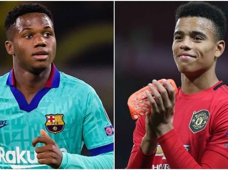 Younger And Better: Records That Prove Ansu Fati Is Better Than Greenwood Of Manchester United.