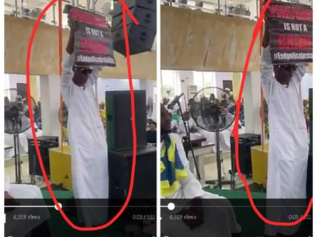 See The Beautiful Moment Small Doctor Displays #EndSars Banner Inside The Church (Video)