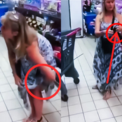 Lady Caused A Stir At The Supermarket When She Did Unthinkable By Using Her Pant As Face Mask -Video