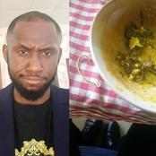 Man Shares The Fish Hook He Found Inside A Soup Served To Him After Buying Food In A Restaurant