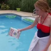 سيدة أمريكية تعيش فى قصر ضخم وتغسل ملابس أطفالها فى حمام السباحة..تعرف على السبب