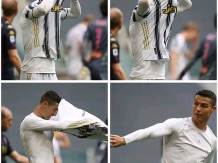 After Ronaldo Was Accused Of Throwing His Shirt To The Ground, Check Out What Actually Happened