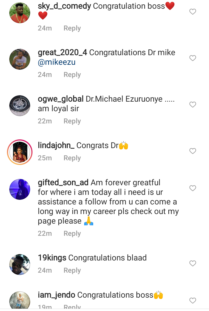 Congratulatory messages as Mike Ezuruonye graduated with doctorate degree from Estam University 16