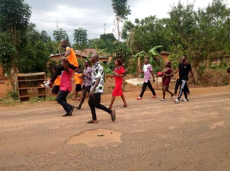 Check Out How Youth Group Celebrated Their Newly Elected Officials Somewhere in Benue State