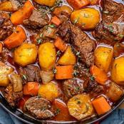 Weekend vibe beef stew recipe.