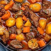 Weekend vibe beef stew recipe.