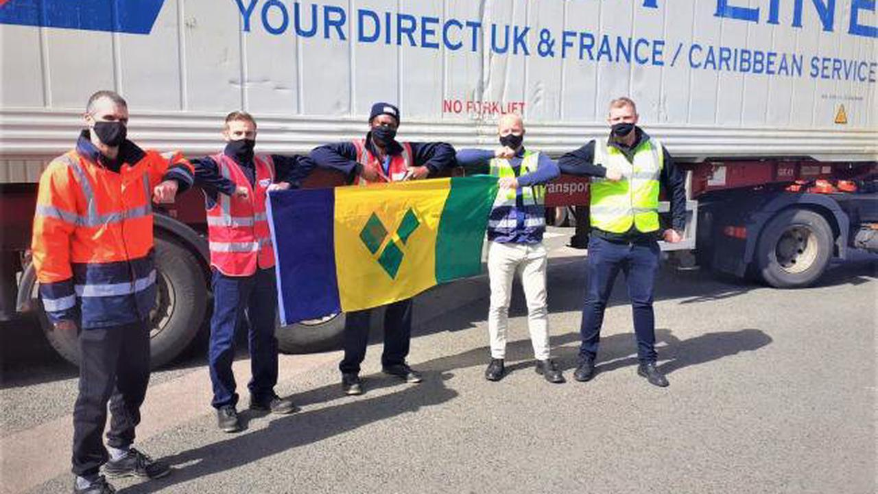 Blackbird Leys volunteers fill container ship for volcano victims