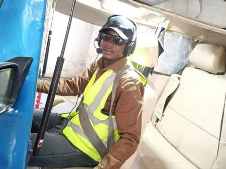 See photos and reaction as Borno indigene reportedly invent flying car in Nigeria