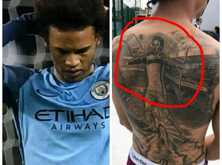Meet Former Man City Winger Who now Regrets Drawing a Permanent Tattoo on His Back, See His Reasons