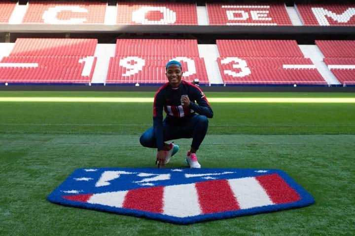 Super Falcons star, Rasheedat Ajibade joins Atletico Madrid from Avaldsnes (photos)