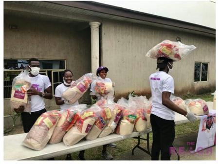 Check out what Burna boy did for over 300 families to celebrate his Grammy win