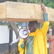 Check Out How Archbishop Carried Coffin on His Head To Protest And See The Message He Has From God