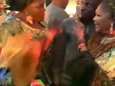 Actress Jaiye Kuti finally caught Jigan at Pasuma's daughter wedding