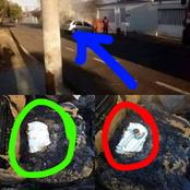 MYSTERY: See What Happened After A Car Conveying Holy Communion, Books To The Sick Went In Flames