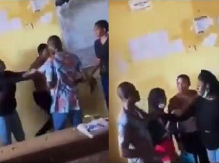 Drama As Female Student Fights Lecturer, Tears His Shirt For Not Allowing Her Write Exam.