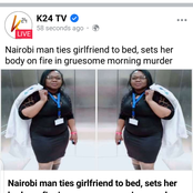 Man kills his girlfriend by burning her to ashes.