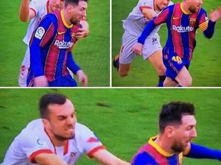 See How Lionel Messi Evaded  Rough Marking By This Sevilla Player.