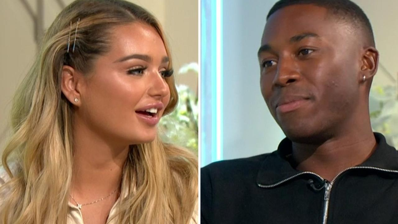 Love Island's Lucinda comes face-to-face with Aaron in awkward reunion as she confirms romance with Brad outside villa