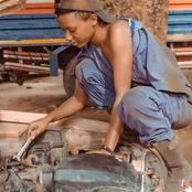 Meet first female mechanic in Katsina state.