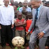 Babu Owino Gets In The Field To Show His Football Skills