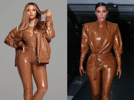 Between Beyoncé and Kim Kardashian, who rocked this outfit better? (Photos)