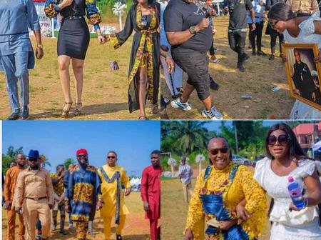 See the moment Mama G, Mr. Ibu, Chief Imo and others arrived at the burial of Destiny Etiko's Father.