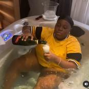 Broda Shaggi, Small Doctor, Skibii & Others react to the video of Teni doing this inside a bathtub.