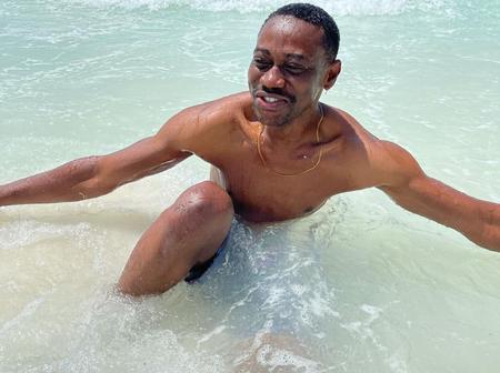 Mo Bimpe, Dele Omowoli, Others Reacts To Pictures Of Lateef Adedimeji Swimming In Tanzania (Photos)