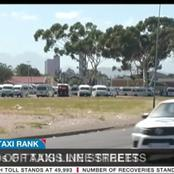 Chaps as hundreds of taxis line the streets