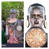 See Why The Ladies Of This African Tribe Insert Plates In Their Mouths, They Do It Before Marriage