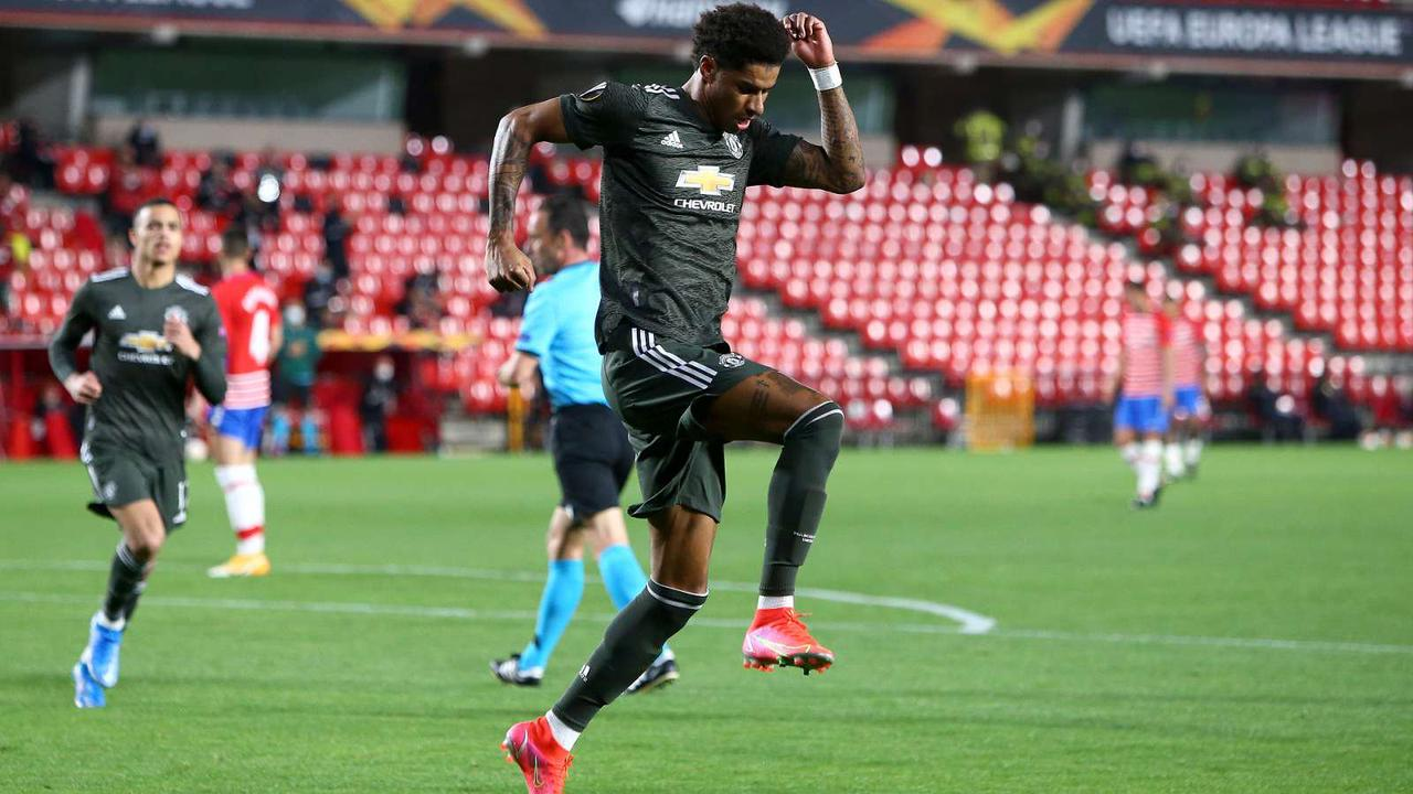 Rashford equals Charlton's 56-year-old Man Utd record after netting in Europa League clash with Granada