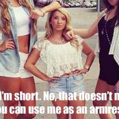 Entertain yourself with these 28 funny memes showing the Struggles of Short Girls