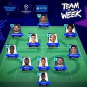 Two Chelsea Players And 4 Other Premier League Stars Makes It To Champions League Team Of The Week.