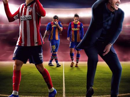 Athletico Madrid Boss fortunate to end his Bad Record against Barcelona after 1-0 Win