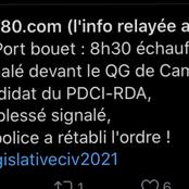 Port-bouet : affrontement signalé devant le QG de Campagne du candidat du PDCI-RDA, déjà 1 blessé