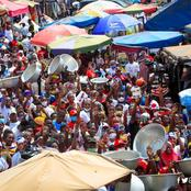 See Crowd As Greater Accra Region Welcomes Dr Mahamudu Bawumia