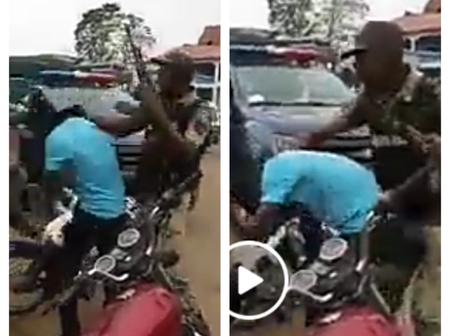 Video: Check Out What Some Police Officers Did To Okada Riders In Aba That Sparked Reactions Online