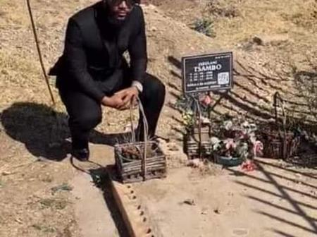 HHP's grave has no tombstone, See pictures of his grave.