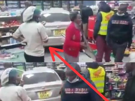 Just See How A Driver Lost Control Of His Car, Headed Inside A Shop & Destroyed Many Goods (Video)