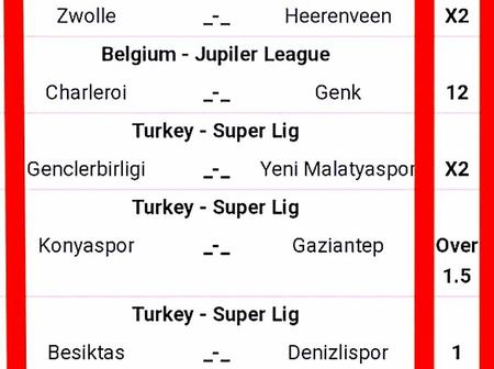 Stake on These Genuinely picked and Fixed GG,Over 2.5 Goals VIP Multibets This Special Sunday 28th