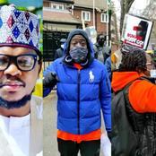 After Photos/Video Of Pro/Anti-Buhari Protesters At Abuja House Surfaces, See What Adamu Garba Said