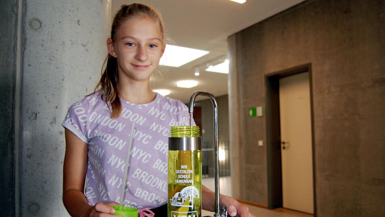 Trinkflaschen für Hoyerswerdaer Fünftklässler