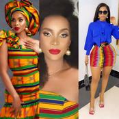 Hot pictures of Benedicta Gafah celebrating Ghana in a colourful wear causes massive stir online