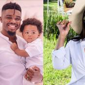 So cute, Simphiwe Ngema and Tino Chinyani share their son's pictures for the first time