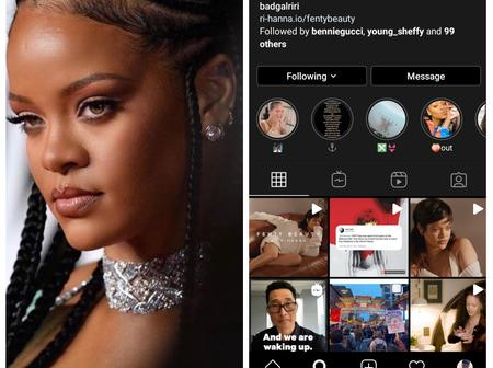 Check Out The Only Nigerian Musician Rihanna Follows On Instagram (Photos)